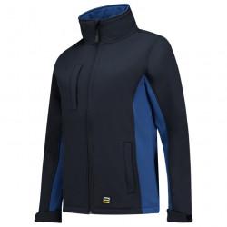 Dames Softshell jas Bi-Color zwart blauw.jpg1