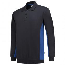 Polosweater Bi-Color zwart blauw.jpg1