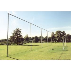 Ballenvanger met net 25,0x5,0 m, zwart