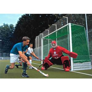 KWD Stel hockeydoelnetten veld 3,66x1,71x0,90x1,20 m, groen