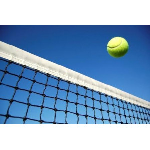 Tennisnet dubbele topmaas, band 12,80x1,07 m, zwart