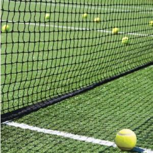 Tennisnet dubbele topmaas, band, glasfiber 12,80x1,07 m, zwart