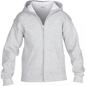 Gildan Kidssweater met capuchon en rits