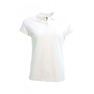 L&S Polo Jersey for Her korte mouw
