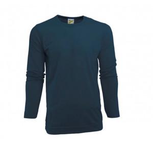 L&S Heren T-shirt Crewneck lange mouw