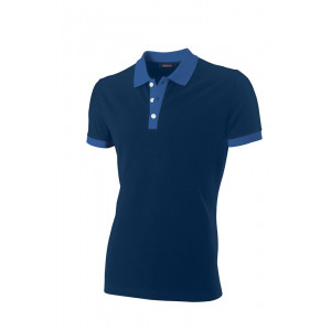Polo Bi-Color Fitted korte mouw