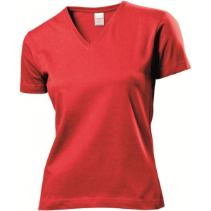 Stedman T-shirt Classic V-Neck for Her korte mouw