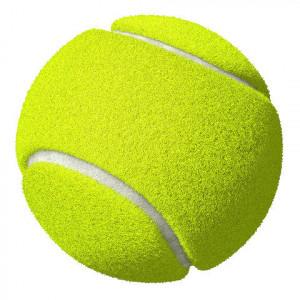 Tennisbal, geel