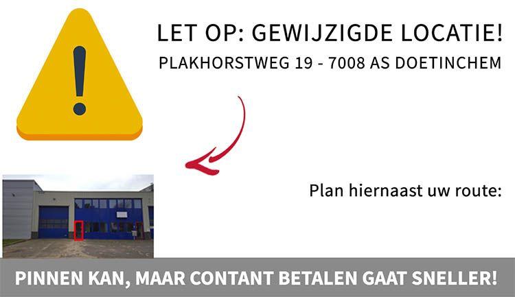 Plan hier uw route naar de KWD opruiming!